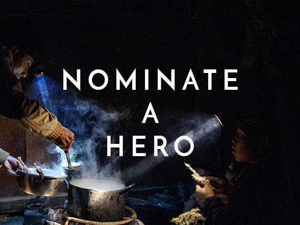Nominate a hero - HS tile